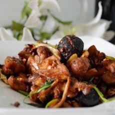 干锅香菇鸡块的做法