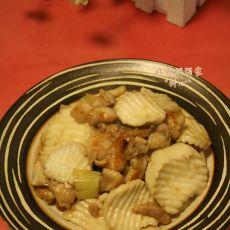 杏鲍菇炒鸡腿肉