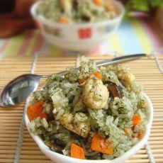 海苔鸡肉菌菇饭
