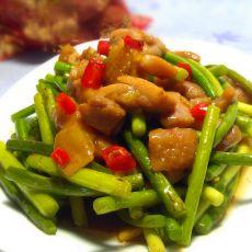蒜苔炒鸡肉