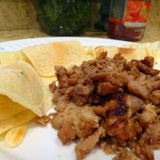 海鲜酱鸡丝卷饼的做法
