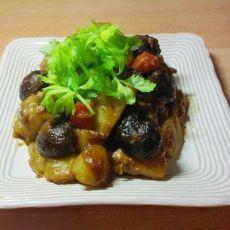 香菇土豆烧鸡腿
