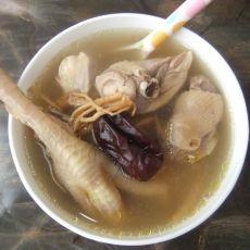 红参煲鸡汤的做法