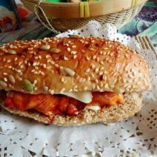 鸡腿杂粮汉堡