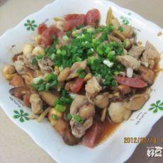 香菇腊肠蒸鸡肉