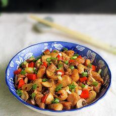 蒜蓉酱蘑菇鸡丁