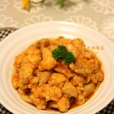 鸡腿肉炒菜花