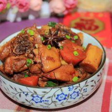 胡萝卜山药焖鸡的做法