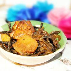 干豆角土豆炖鸡块的做法