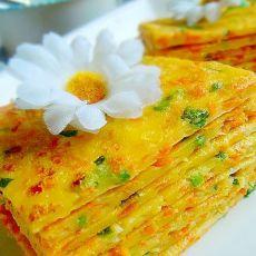 胡萝卜鸡蛋饼―健康早餐