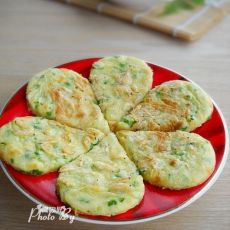 辣椒虾皮鸡蛋饼