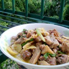 姜片焖鸭肉