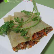 鸭丝蔬菜煎饼