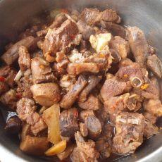 香菇梗蒸鸭肉
