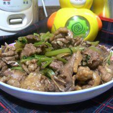 芹菜焖鸭的做法