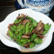 青椒炒鸭丝