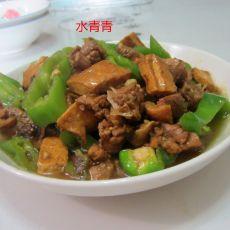 青椒卤豆腐干烧鸭