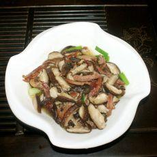 香菇炒鸭丝