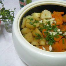 啤酒鸭炖萝卜土豆