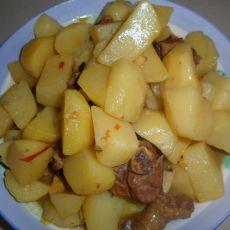 土豆烧鸭腿