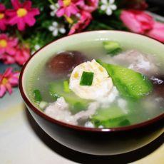 咸蛋香菇丝瓜汤