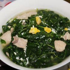 咸蛋肉片枸杞汤[首发]的做法