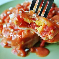 番茄酿咸蛋
