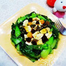 金银蛋炒青菜的做法