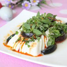 荆芥皮蛋豆腐的做法