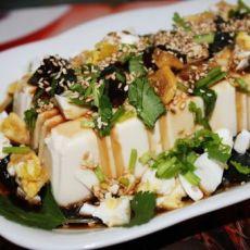 鸳鸯蛋拌豆腐