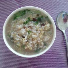 青菜皮蛋粥