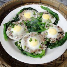 肉饼酿鹌鹑蛋