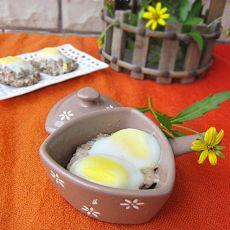 鹌鹑蛋蒸肉饼