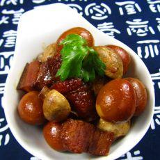 口蘑鹌鹑蛋烧肉