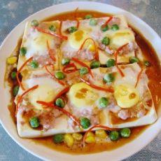 鹌鹑蛋蒸豆腐