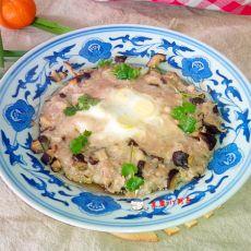 香菇肉末蒸蛋