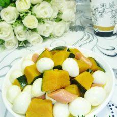 火腿肠南瓜鹌鹑蛋的做法