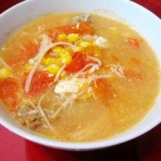 鹌鹑蛋玉米番茄汤