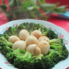 虎皮鹌鹑蛋烩西兰花