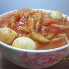 西红柿熬土豆丝