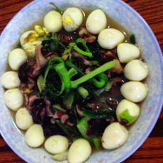 香菇油菜炖鹌鹑蛋