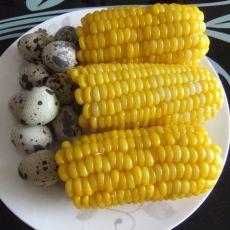 水煮玉米鹌鹑蛋的做法