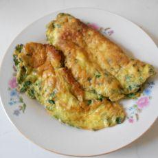 韭菜鹌鹑蛋饼