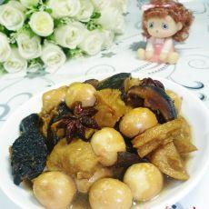 鹌鹑蛋香菇烤麸