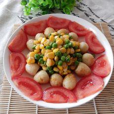 豌豆玉米炒鹌鹑蛋