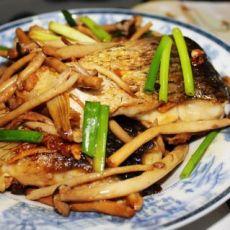茶树菇烧鱼