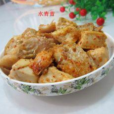 孜然鱼香豆腐的做法