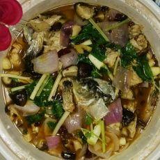 洋葱香菇鱼煲