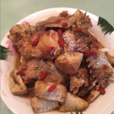 红烧咸鲜鱼