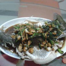 姜葱伴鲈鱼